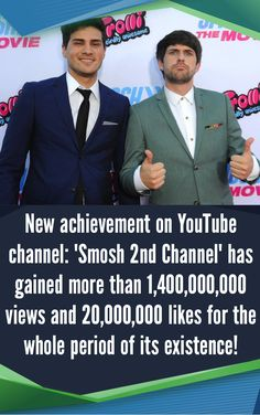 """New achievement on YouTube channel: """"Smosh 2nd Channel"""" has gained more than 1,400,000,000 views and 20,000,000 likes for the whole period of its existence!  #Smosh #YouTube #SeeZisLab"""