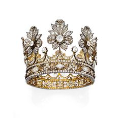Diamond crown created by Mellerio dits Meller, dating from the second half of the 19th century. Christies.