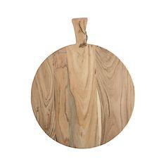 Deze snijplank van het merk House Doctor heeft een diameter van 50 cm. De snijplank is gemaakt van accacia hout