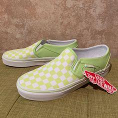 Vans Slip On Pro Shoes Alpine GreenWhite