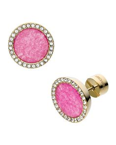 Pave Slice Studs, Golden/Pink by Michael Kors at Neiman Marcus.