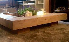 Oak sleeper Coffee Table. wooden coffee table table by Fretwells