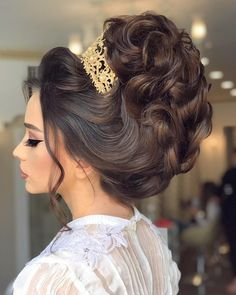 Quince Hairstyles, Easy Party Hairstyles, Hairstyles For Gowns, Bride Hairstyles, Hairdo Wedding, Bridal Hair Updo, Wedding Hair Pieces, Wedding Hair And Makeup, Kate Middleton Hair