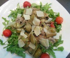 Straccetti di carne con carciofi e olive