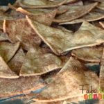 Cinnamon chips recepe. Would replace butter for coconut oil and coconutflower sugar instead of sugar.