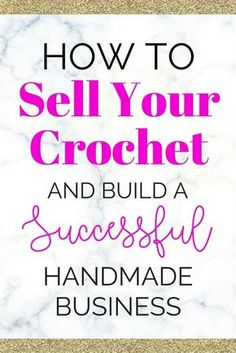 Crochet Purses Ideas handmade crochet business - Learn how to sell your crochet and start a fun business! Selling handmade crochet or knitting can be very profitable and act as a full-time income. Crochet Projects To Sell, Crochet Crafts, Crochet Toys, Sewing Projects, Crochet Tutorials, Crochet Baby, Knit Crochet, Crochet Classes, Tutorial Crochet