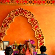 I love the colors of this yoga studio, I'm happily reminded of India.