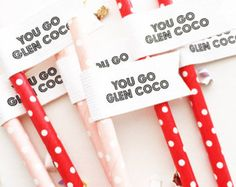 You Go Glen Coco Straws/ Glen Coco/ Christmas Decor/ Christmas Gift/ Mean Girls/ Christmas/ Christmas Party/ Gift For Her/ Merry Christmas Mean Girls Party, Glen Coco, Bachelorette Party Decorations, Straws, Christmas Christmas, Brunch, October, Birthday Parties, Gift