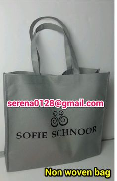 Non woven bag with silk print. In cheap price. Can be with button or velcro for closure.