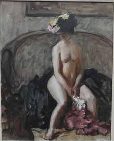 Philip Wilson Steer, Seated Nude: The Black Hat Tate collection. Figure Painting, Painting & Drawing, Figure Drawing, Painting Frames, Painting Prints, Tate Gallery, Galerie D'art, Collaborative Art, Art Club