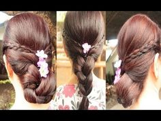 Quick Braided Hairstyle to an Easy Elegant Formal Updo Final 2013 - YouTube