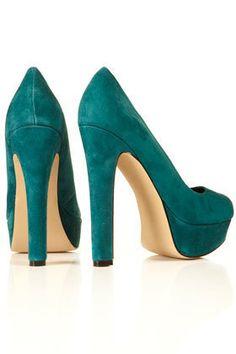 TOPSHOP SWAGGER Platform Court Shoesin teal UK 5 | eBay
