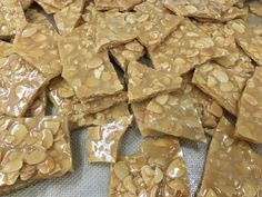 From the southern Monroe Etsy Shop, of Crunchy Buttery Almond brittle Happy Birthday Bear, Almond Brittle, Cherry Candy, Christmas On A Budget, Gourmet Gifts, Gifts For My Boyfriend, No Bake Cake, Christmas Cookies, Yummy Treats