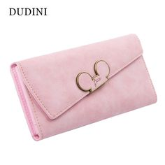 Hot New High Fashion Women Wallet Scrub Hit Color Lnclined Lid Ladies Wallet Creative Design Hasp Clutch Coin Pocket Card Holder
