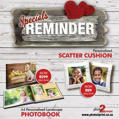 Don't miss out on these incredible offers... Offers only valid until 31 March 2016. #photo2print #reminder #specials #giftideas