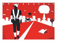 Krzysztof Winnicki: DRIVE SAFELY Signs, Movies, Movie Posters, Art, Art Background, Films, Shop Signs, Film Poster, Kunst