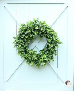Boxwood Wreath Faux