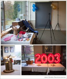 Photobooth at high school reunion, decorating ideas, diy centerpieces