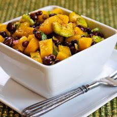 Mango Salad with Black Beans, Avocado, Mint, and Chile-Lime Vinaigrette Recipe