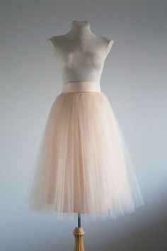 Peach Tulle skirt. Tulle skirt. Woman tulle skirt. by lolablooming-$110.00