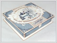 Mariannes papirverden.: Sjokoladeeske med mal og mål:) Paper Crafts, Diy Crafts, Craft Box, Winter Cards, Christmas Inspiration, Cardmaking, Christmas Cards, Decorative Boxes, Templates