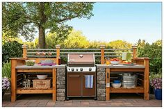Grill station.