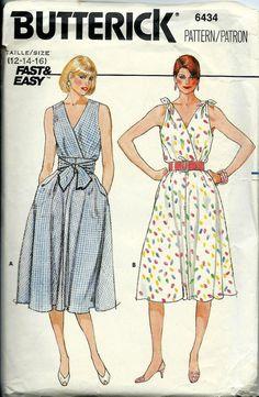 VTG Misses Dress Pattern Flared Skirt with by DawnsDesignBoutique