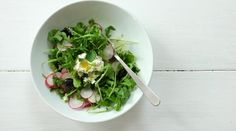Arugula Salad with Radishes, Mint and Whipped Feta Recipe from Jessica Seinfeld