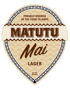 Mai Lager naturally brewed in the Cook Islands -  no sugar, preservatives or chemicals added