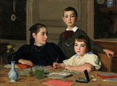Albert Anker, The Zaeslin siblings, 1896