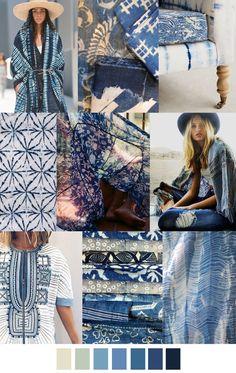 2017 pattern & colors trends: boho blues summer trend 2018 p Trend Fashion, Moda Fashion, Fashion 2017, Fashion Design, Fashion Online, Hippie Chic, Look Boho, Fashion Forecasting, Mini Vestidos