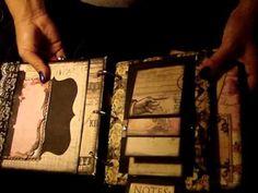 ▶ ROMANCE NOVEL MINI ALBUM - YouTube Mini Scrapbook Albums, Scrapbook Journal, Scrapbook Paper Crafts, Mini Photo Albums, Mini Scrapbooks, Mini Album Tutorial, Album Book, Handmade Books, Smash Book