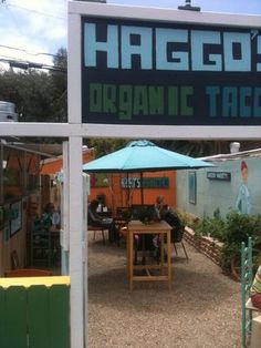 Haggo's Organic Taco is the place of my dreams. Leucadia, CA on 101 just north of San Diego.
