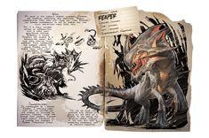 The Reaper from Ark: Aberration Wild Creatures, Magical Creatures, Fantasy Creatures, Game Ark Survival Evolved, Mythological Animals, Dinosaur Art, Xenomorph, Prehistoric Creatures, Monster Design