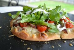 Steak and White Cheddar Flatbread - Topped with Beano's Horseradish Sauce.