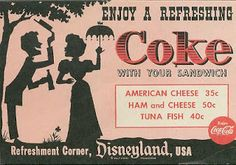 Enjoy a Coke (Since we're getting it for free and making 100% profit . . . tricky Disney!)