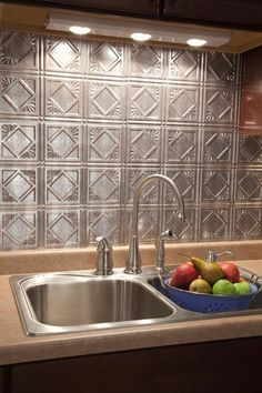 contact paper 'tiled' backsplash | contact paper, removable