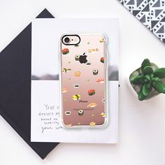 Sushi (すし,寿司) Japanese food transparent iPhone case by imushstore - Classic Grip Case