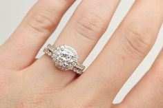 Halo Engagement Ring Diamond Engagement Ring Moissanite