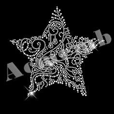 Star Shape Rhinestone Motif Custom New Design for Christmas Decoration