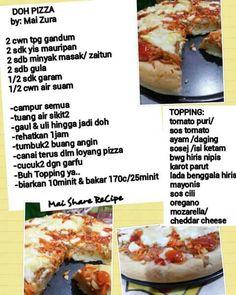 Doh pizza Pastry Recipes, Dessert Recipes, Cooking Recipes, Burger Bread, Sambal Recipe, Western Food, Bread Bun, Tasty, Pizza