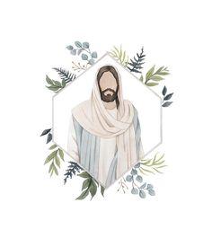 Refreshingly Simple Watercolor Prints by LittleOakStudios Jesus Christ Painting, Jesus Art, God Jesus, Jesus Christ Lds, Jesus Christ Drawing, Paintings Of Christ, Art Watercolor, Watercolor Portraits, Simple Watercolor