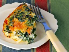 Kale, mushroom and caramelized onion breakfast casserole, from The Perfect Pantry.