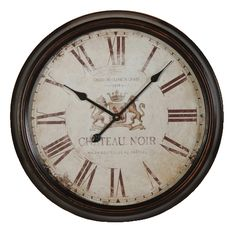 CHATEAU NOIR WALL CLOCK. Diam:620mm