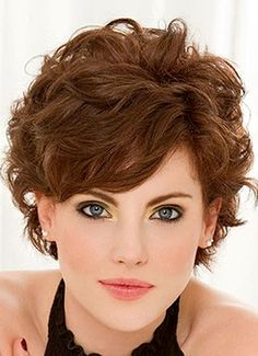 Short Fine Curly Hair Haircuts Short Hairstyles For Fine Wavy Hair throughout sizing 800 X 1103 Short Layered Hairstyles For Thick Curly Hair - Trying to Hairstyles For Fat Faces, Short Curly Hairstyles For Women, Haircuts For Curly Hair, Short Hair Cuts For Women, Cool Hairstyles, Short Haircuts, Hairstyle Ideas, Hairstyles Haircuts, Layered Hairstyles