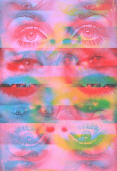 Fading Reality Anytime Anywhere Art Print Tyler Spangler Photo Wall Collage, Picture Wall, Collage Art, Photowall Ideas, Photo Hacks, Tyler Spangler, Wow Art, Glitch Art, Psychedelic Art