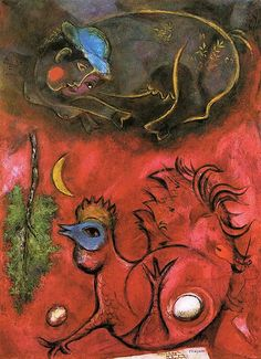 Chagall, Marc (1887-1985) - 1944 Listening to the Cock, The Art Institute of Chicago