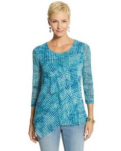 Chico's Dot Ruffle Top #chicos#chicoosweeps
