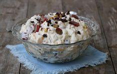 Krema fruktsalat - LINDASTUHAUG Crunches, Muffin, Food And Drink, Ice Cream, Pudding, Sweets, Breakfast, Recipes, Cakes