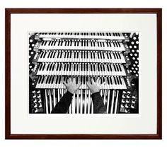 "New York Times Archive Framed Photography, Riverside Church Organ - 1999, 24 x 20 "", Espresso"